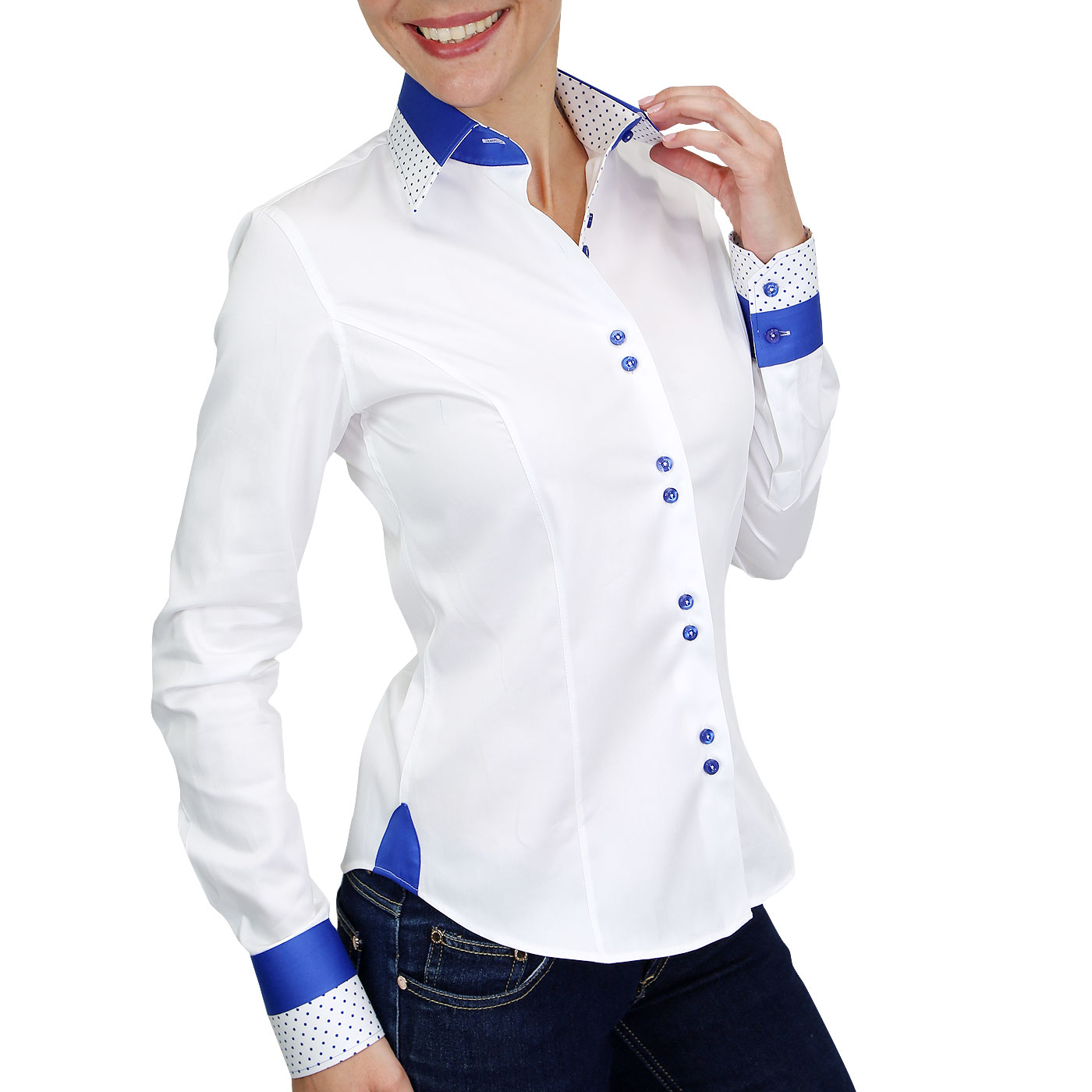 Woman shirt italian collar