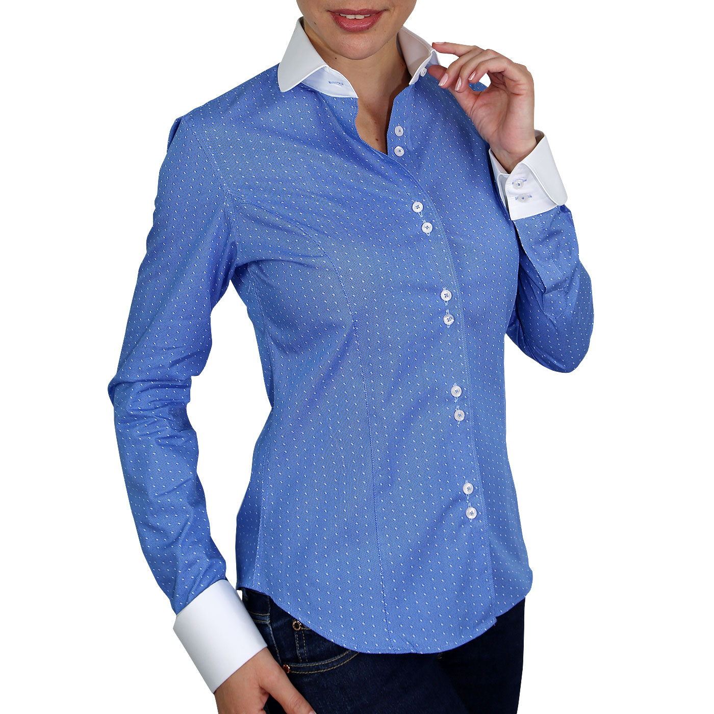 Woman Shirt White Collar