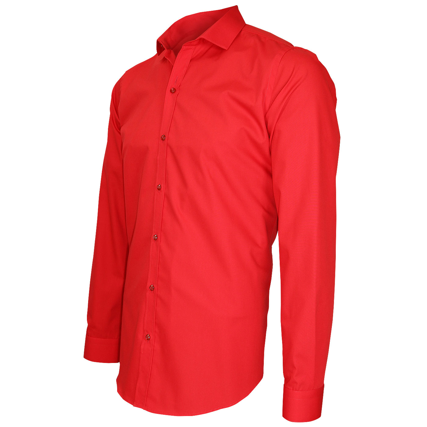slim fit red shirt