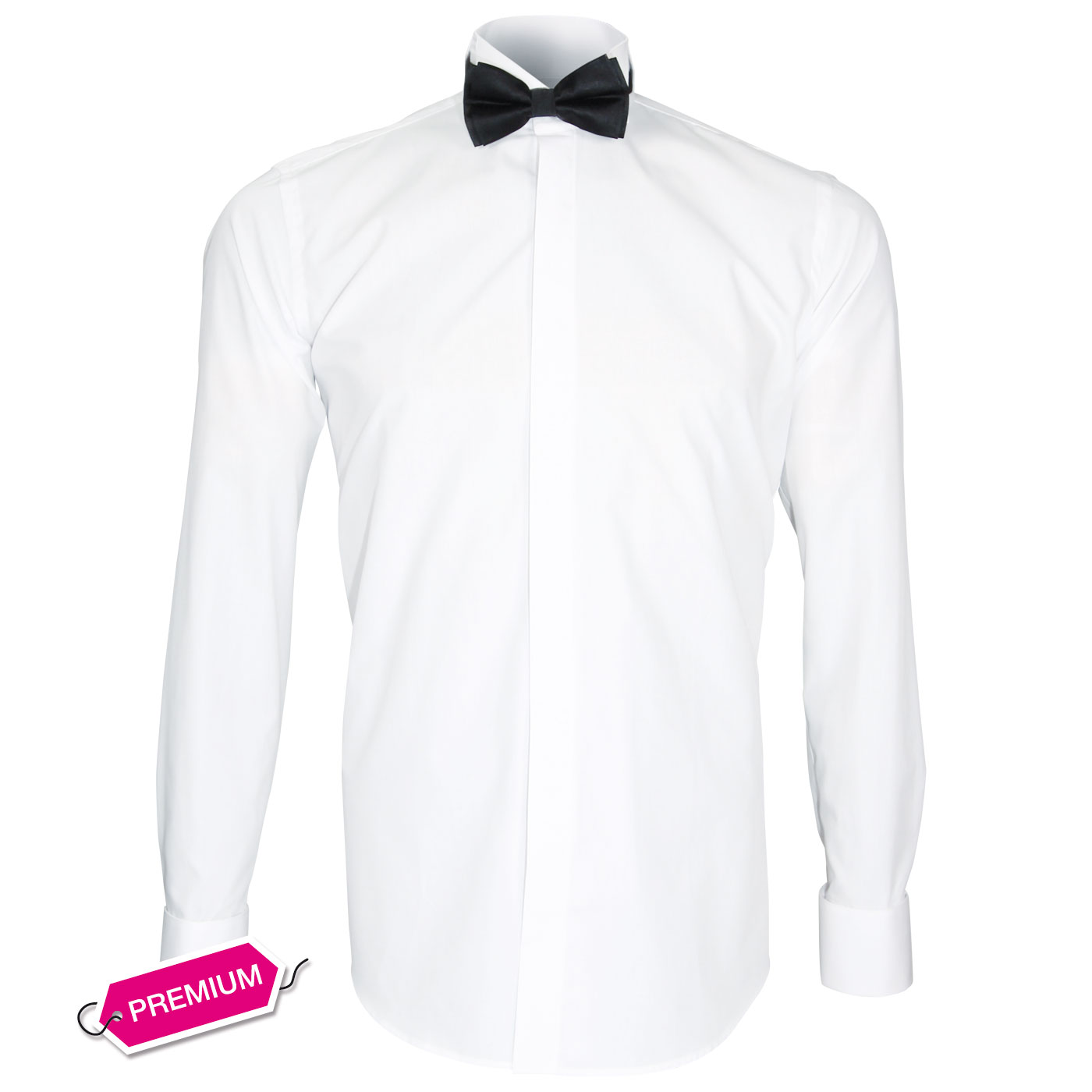 Bow Tie Collar Shirt for Ceremony Dress Shirt for Tuxedo wear