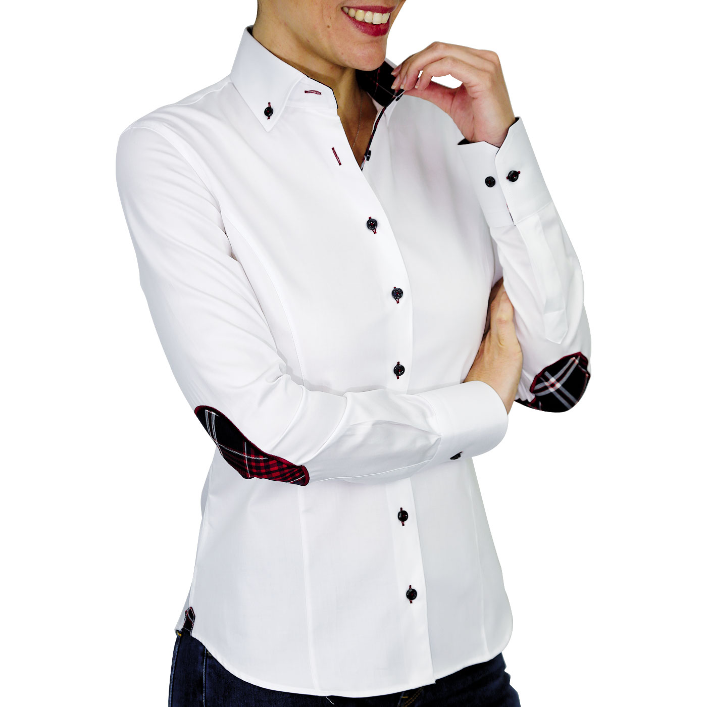 White Women's Shirt With Elbows