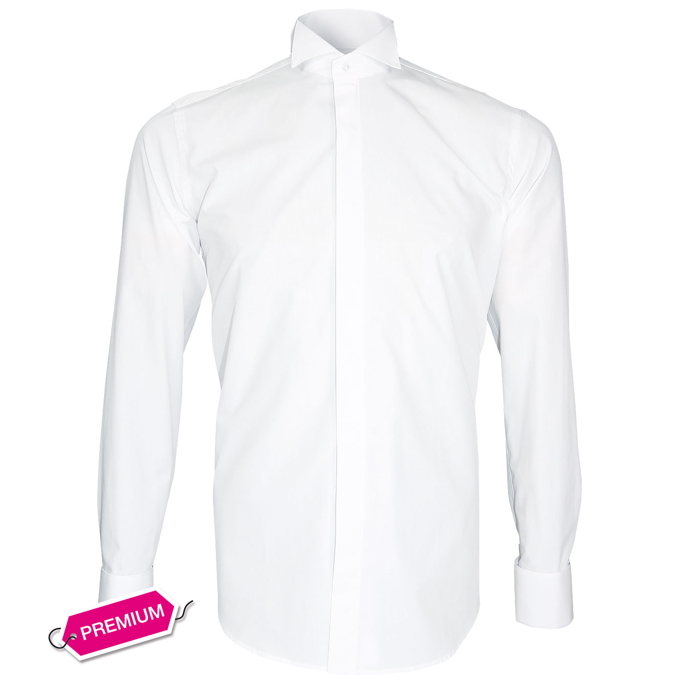 French cuffs shirt bow tie collar