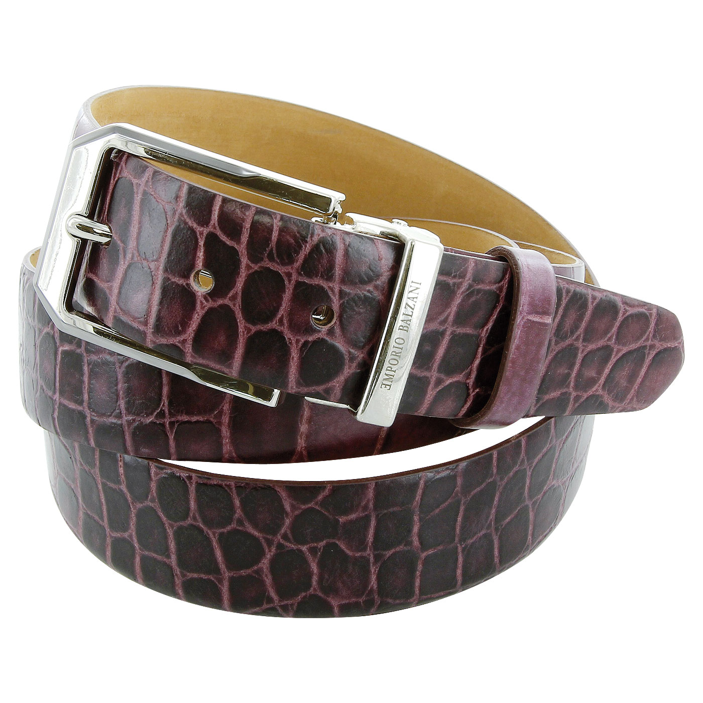 Crocodile leather blet