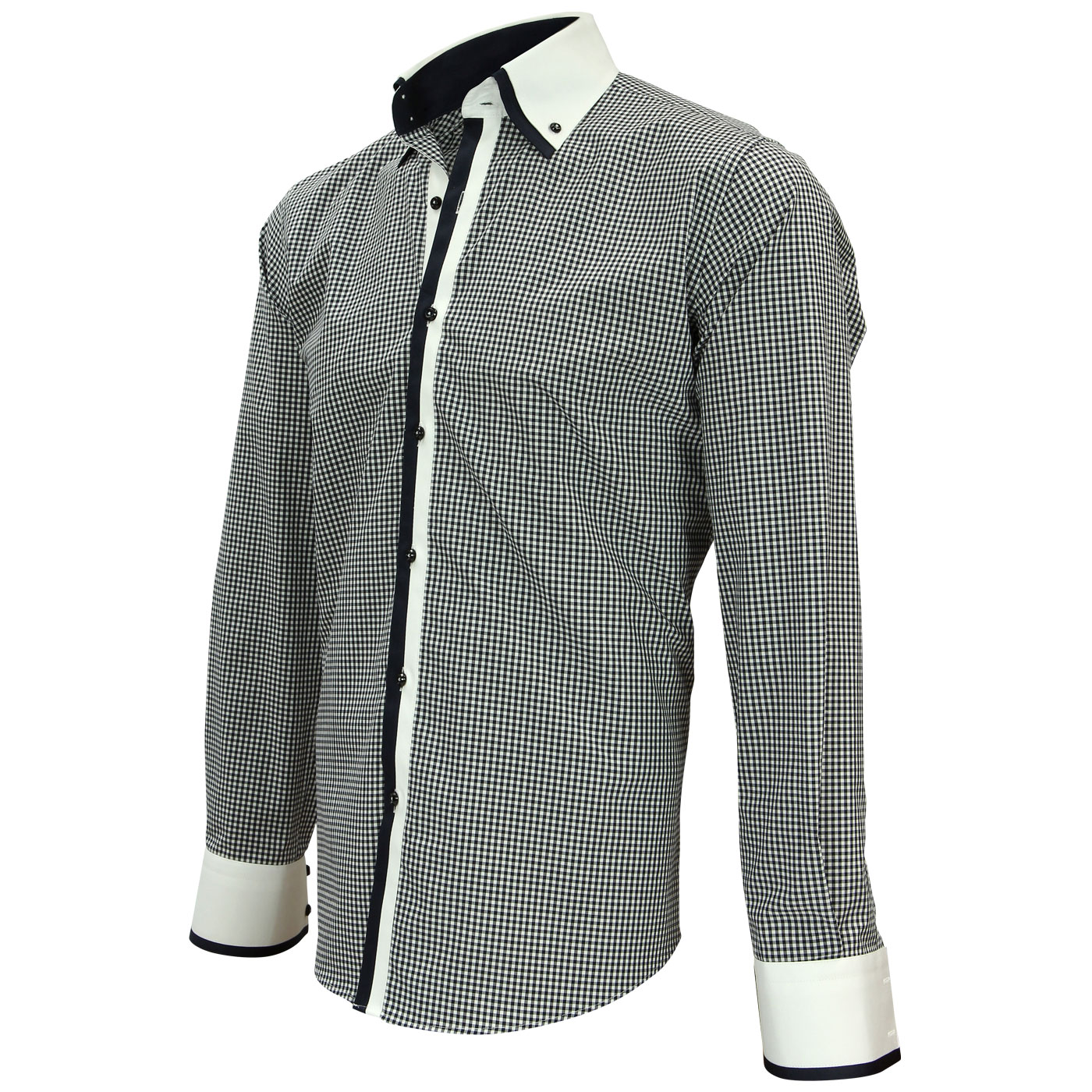Trendy shirt with white collar
