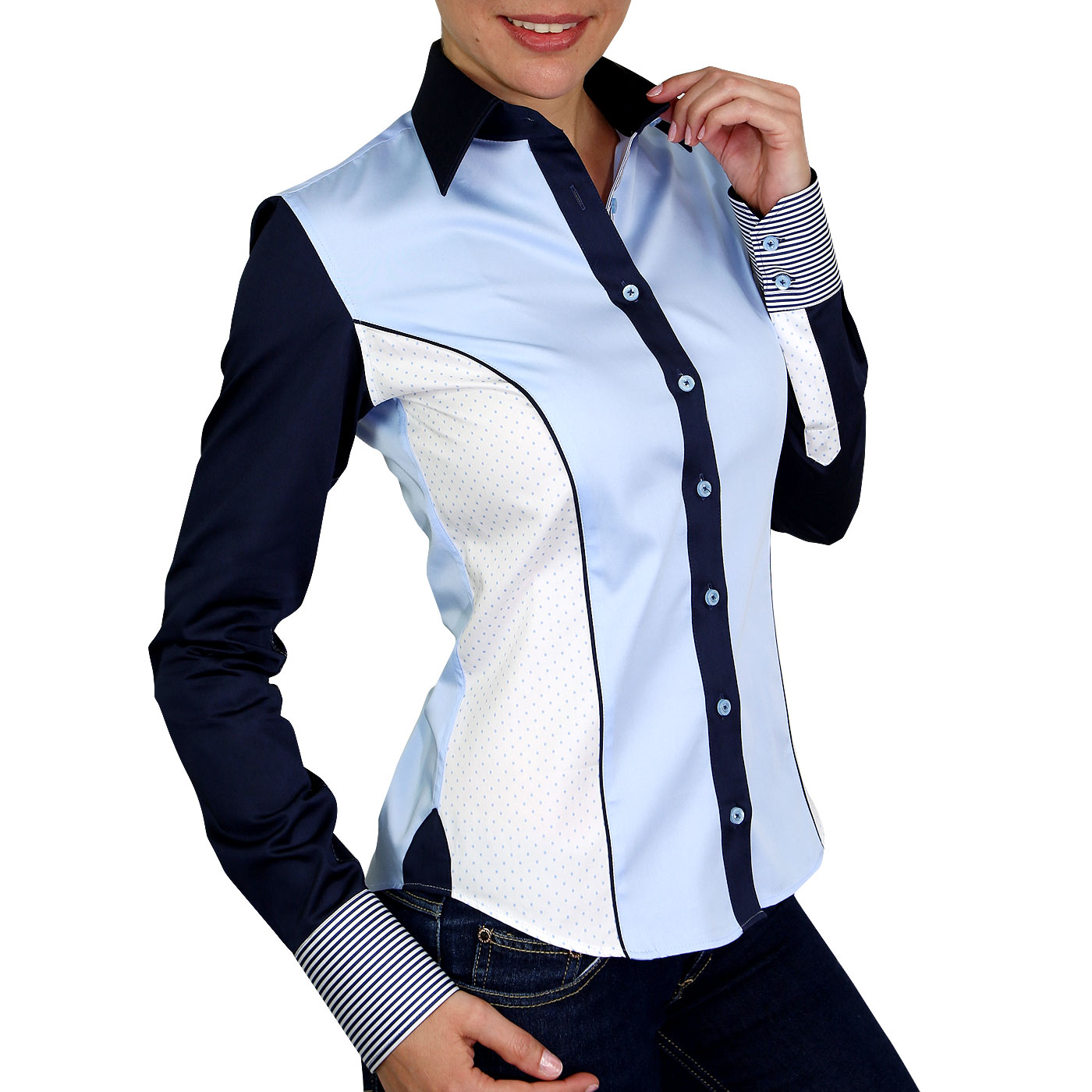 Two tone woman's shirt