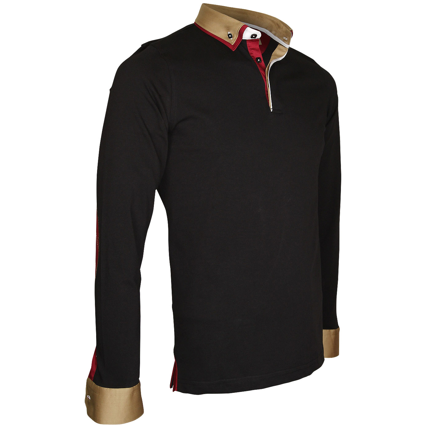 Double collar jersey polo