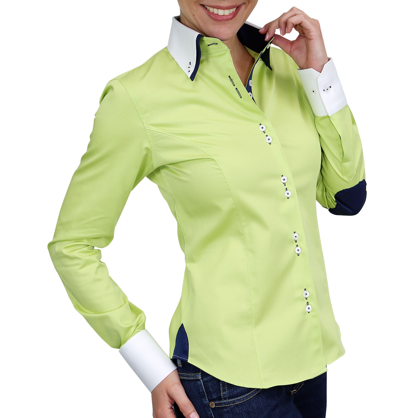 Double collar woman's shirt