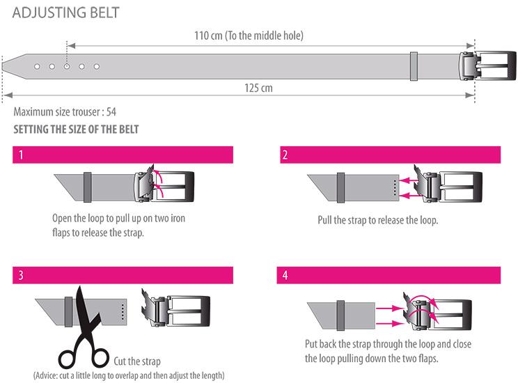 Adjusting belt